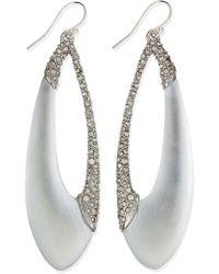 Alexis Bittar Encrusted Asymmetric Lucite Teardrop Earrings - Lyst