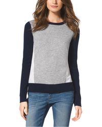 Michael Kors Color-block Cashmere Sweater - Lyst
