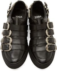 Toga Pulla - Leather And Silver Buckled Sneakers - Lyst