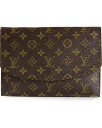 Louis Vuitton Monogram Vintage Pouch Clutch - Lyst