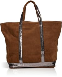 Vanessa Bruno Suede Tote with Sequin Embellishment - Lyst