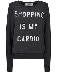 Wildfox Shopping Is My Cardio Sweater - Lyst