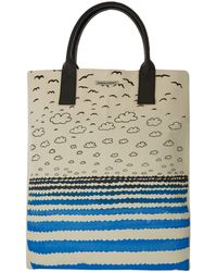 Simeon Farrar - Blue and White Seaside Print Canvas Bag - Lyst
