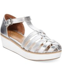 Report Signature Odion Caged Flatform Sandals - Lyst