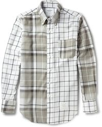 Thom Browne Button-down Collar Checked Cotton Oxford Shirt - Lyst