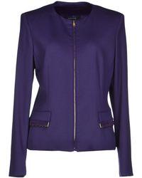 Versace Purple Blazer - Lyst