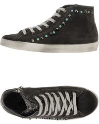 Beverly Hills Polo Club Gray Hightops Trainers - Lyst