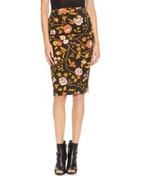 By Malene Birger Alegra Floral Skirt Black - Lyst