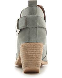 Jeffrey Campbell Jonas Short Buckle Western Booties Light Grey - Lyst