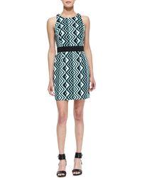 Milly Ana Geo-Print Sheath Dress - Lyst