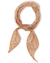 Hermès HermãˆS Orange Foulard Triangle Scarf - Lyst