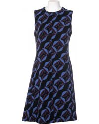 Marni Armholes Dubbed Virgin Wool Stretch Dress blue - Lyst