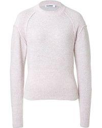 Jil Sander Cashmere-wool-silk Pullover - Lyst