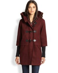 Rebecca Minkoff Rabbit Furtrimmed Toggle Coat - Lyst