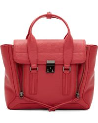 3.1 Phillip Lim Rasberry Grained Leather Pashli Medium Satchel - Lyst