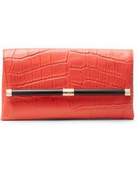 Diane von Furstenberg 440 Envelope Croc Clutch - Lyst