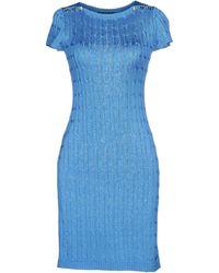 Ralph Lauren Black Label Short Dress - Lyst