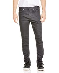 Blank - Coated Slim Fit Jeans In Grey - Lyst