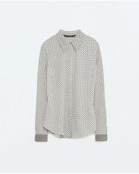Zara | Printed Shirt | Lyst