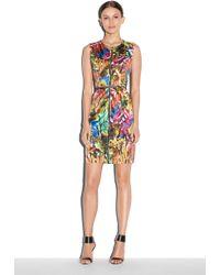 Milly Tropical Print Angular Dress - Lyst