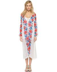 Antik Batik Aloha Djellabah Dress - Cream - Lyst