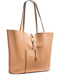 Michael Kors Miranda Large Leather Tote - Lyst