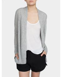 White + Warren | Cashmere Cable Cardigan | Lyst