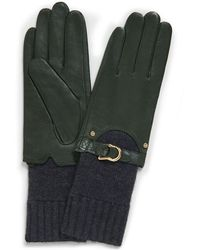 Tory Burch Leather Knit Glove - Lyst
