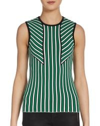 Torn By Ronny Kobo Sandra Striped Top - Lyst