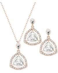 Swarovski Rose Gold-plated Crystal Orbital Necklace and Earrings Set - Lyst