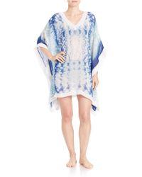 Amita Naithani - Tie Dyed Poncho Cover-up - Lyst