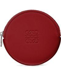 Loewe Round Leather Coin Handbag - Lyst