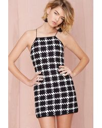 Nasty Gal Shakuhachi Check Wave Dress - Lyst