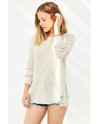 Kimchi Blue - Skyler Lace Inset Sweater - Lyst