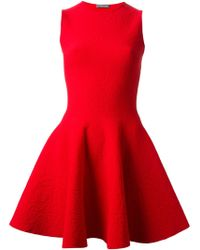 Alexander McQueen Flared Skater Dress - Lyst