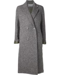 T By Alexander Wang Gray Reversible Coat - Lyst