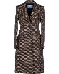 Prada Coat brown - Lyst