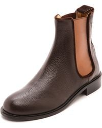 Avec Moderation Pimlico Chelsea Boots Chocolate - Lyst
