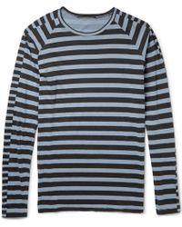 Haider Ackermann Striped Cotton T-Shirt - Lyst