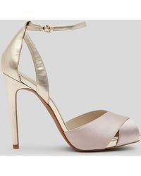 Reiss Platform Evening Sandals Cece High Heel - Lyst