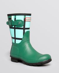 Hunter Rain Boots - Original Short Tartan - Lyst