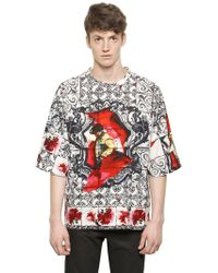 Dolce & Gabbana Matador Printed Cotton Poplin T-Shirt - Lyst