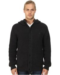Nixon Montana Button Front Hoodie Sweater - Lyst