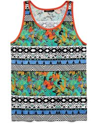 21men Abstract Geo Cotton Tank - Lyst