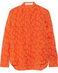Stella McCartney Wilson Printed Silk Shirt - Lyst