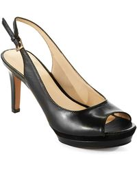 Nine West Black Able Heels - Lyst