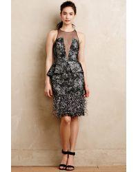 Noir Sachin & Babi Plumed Silhouette Dress - Lyst