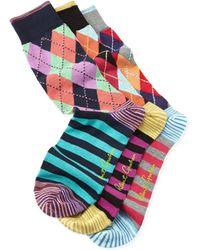 Robert Graham Pegasus Argyle Socks - Lyst