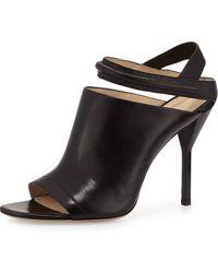 3.1 Phillip Lim Martini Peep Toe Leather Sandal - Lyst