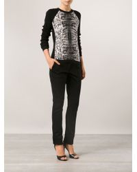 Reed Krakoff Front Panel Sweater - Lyst